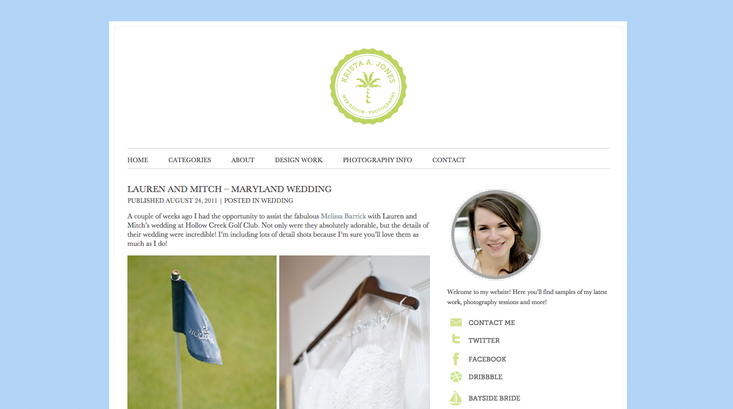 Custom WordPress websites and themes for photographers and creatives