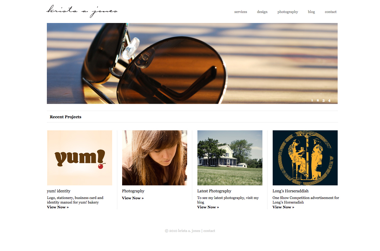 Custom WordPress website design for photographers and small businesses.