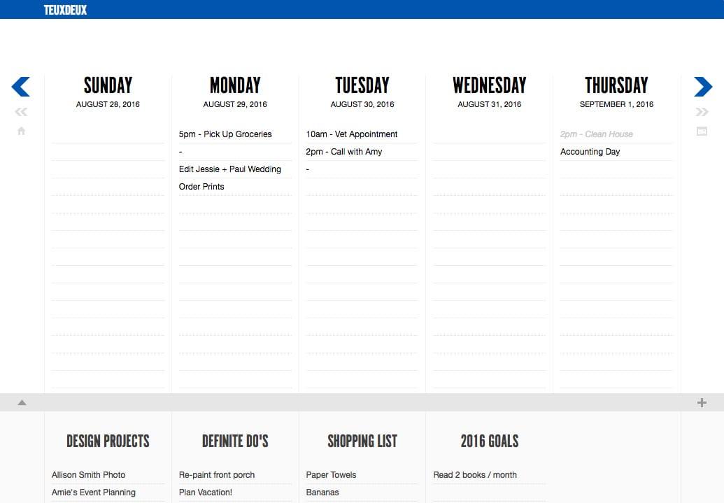Task Management for Creatives TeuxDeux   via Davey & Krista