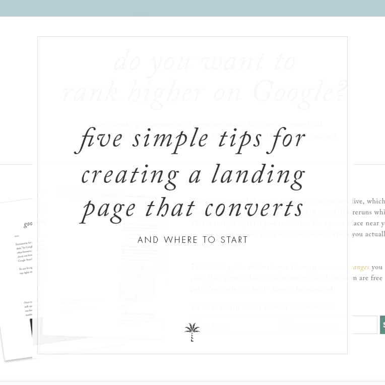 Create a landing page that converts | Davey and Krista