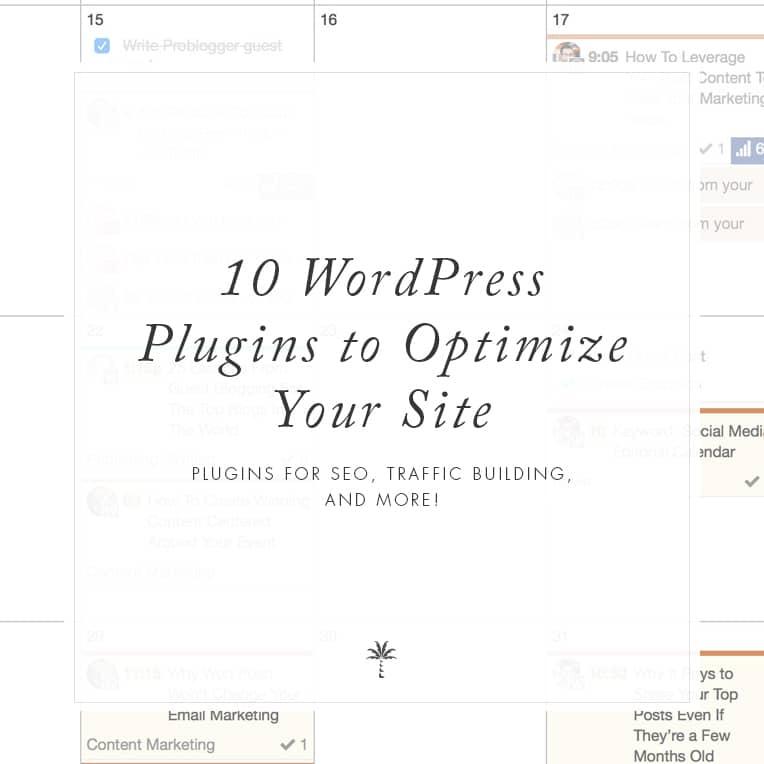 WordPress plugins to optimize your website | Davey & Krista