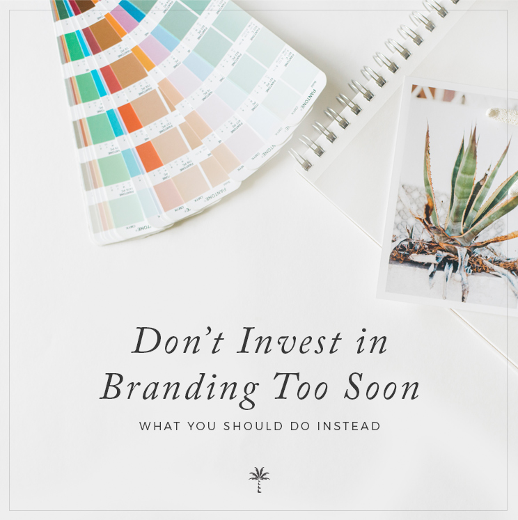 Why we don't recommend investing in branding during your first year of business | Davey & Krista