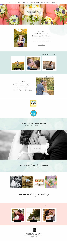 Showit Website Launch Caitlin Luke Photography Davey Krista - Wedding photography website templates