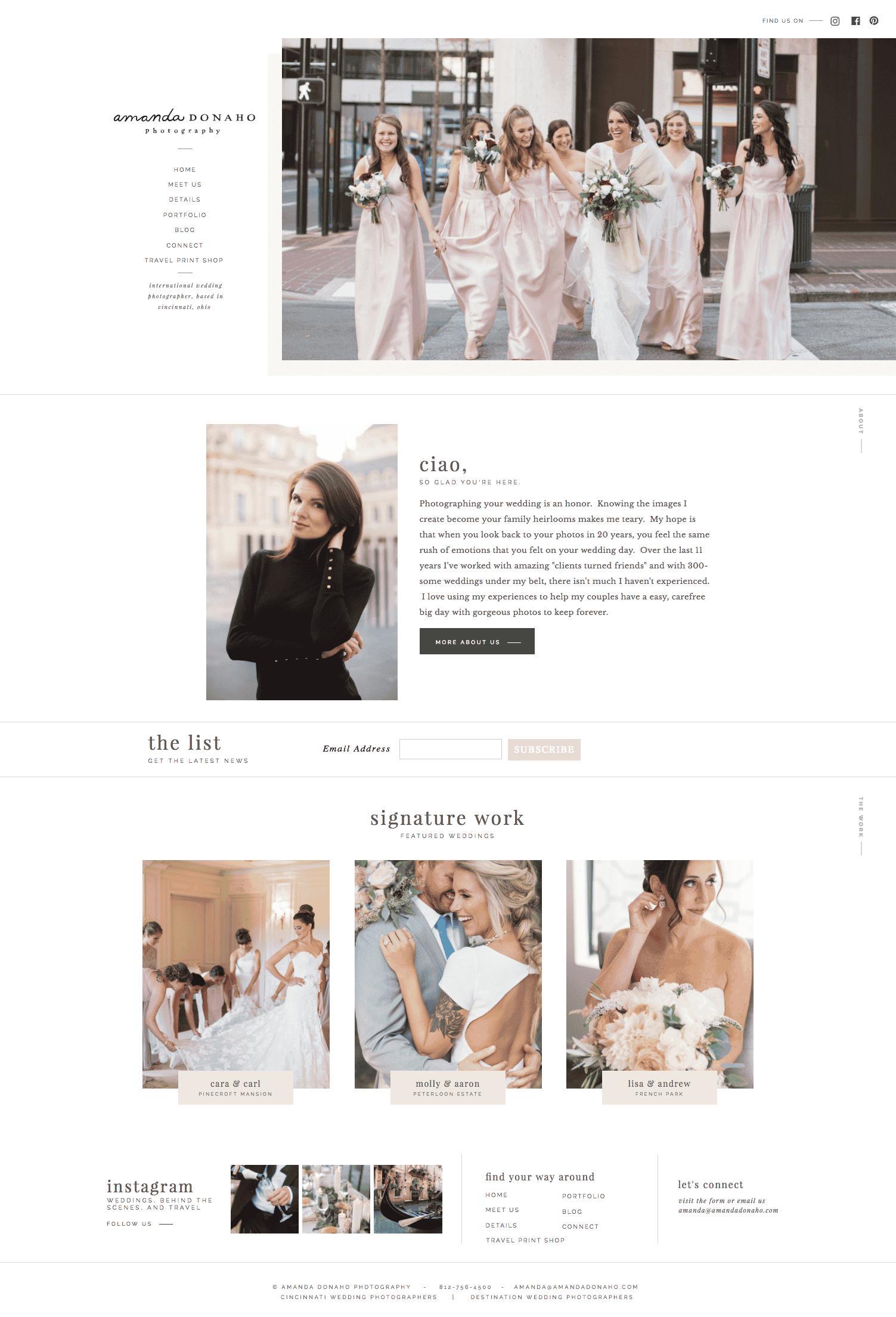 Showit website templates for photographers & creatives | Davey & Krista