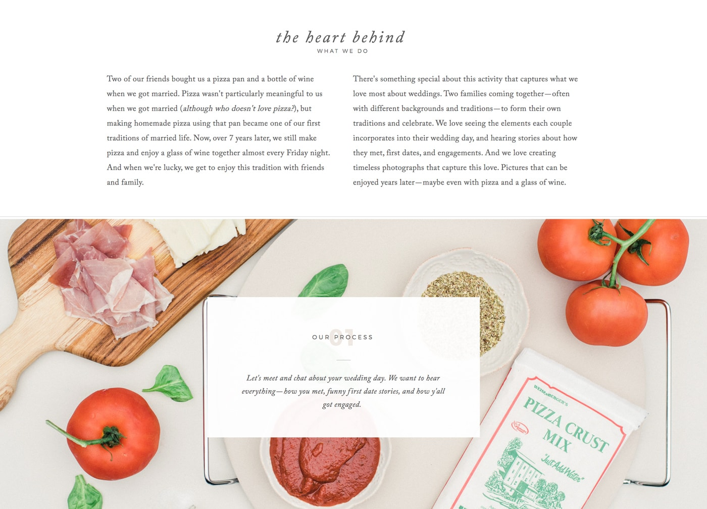 About Page Example | Davey & Krista