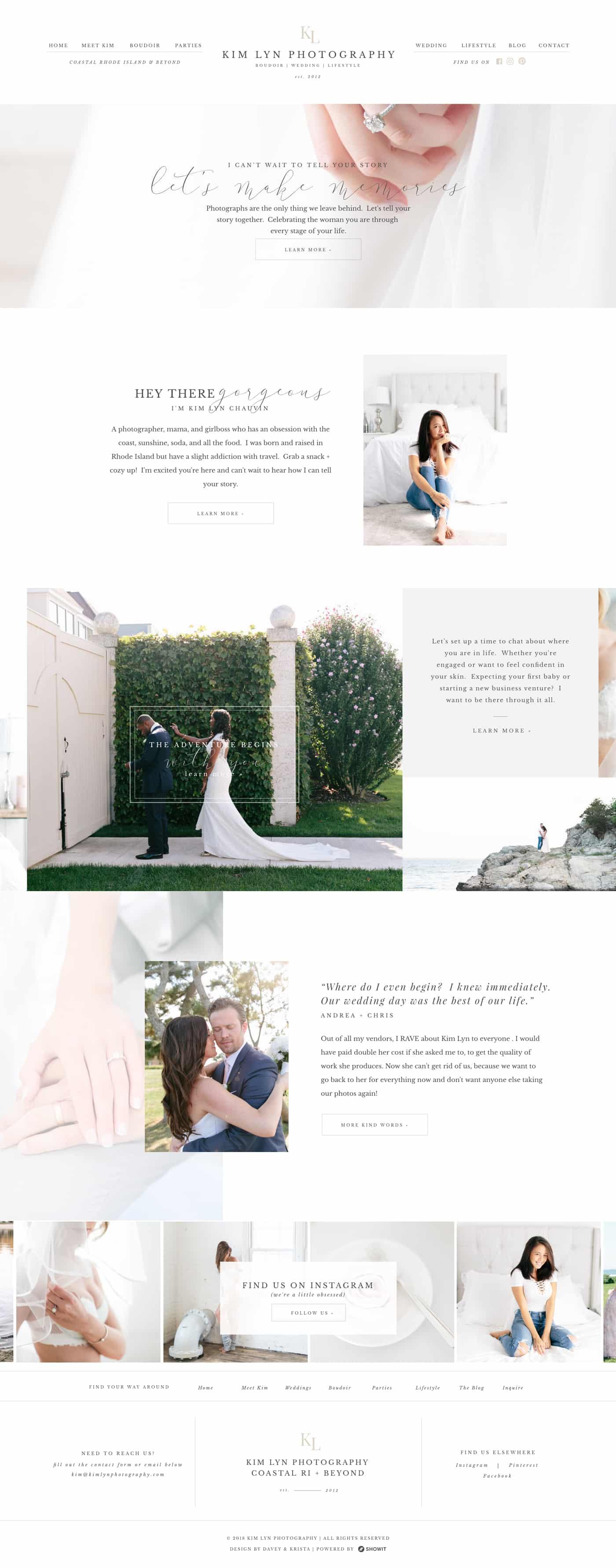 Customizable Website Template For Showit WordPress Kim Lyn - Wedding photography website templates