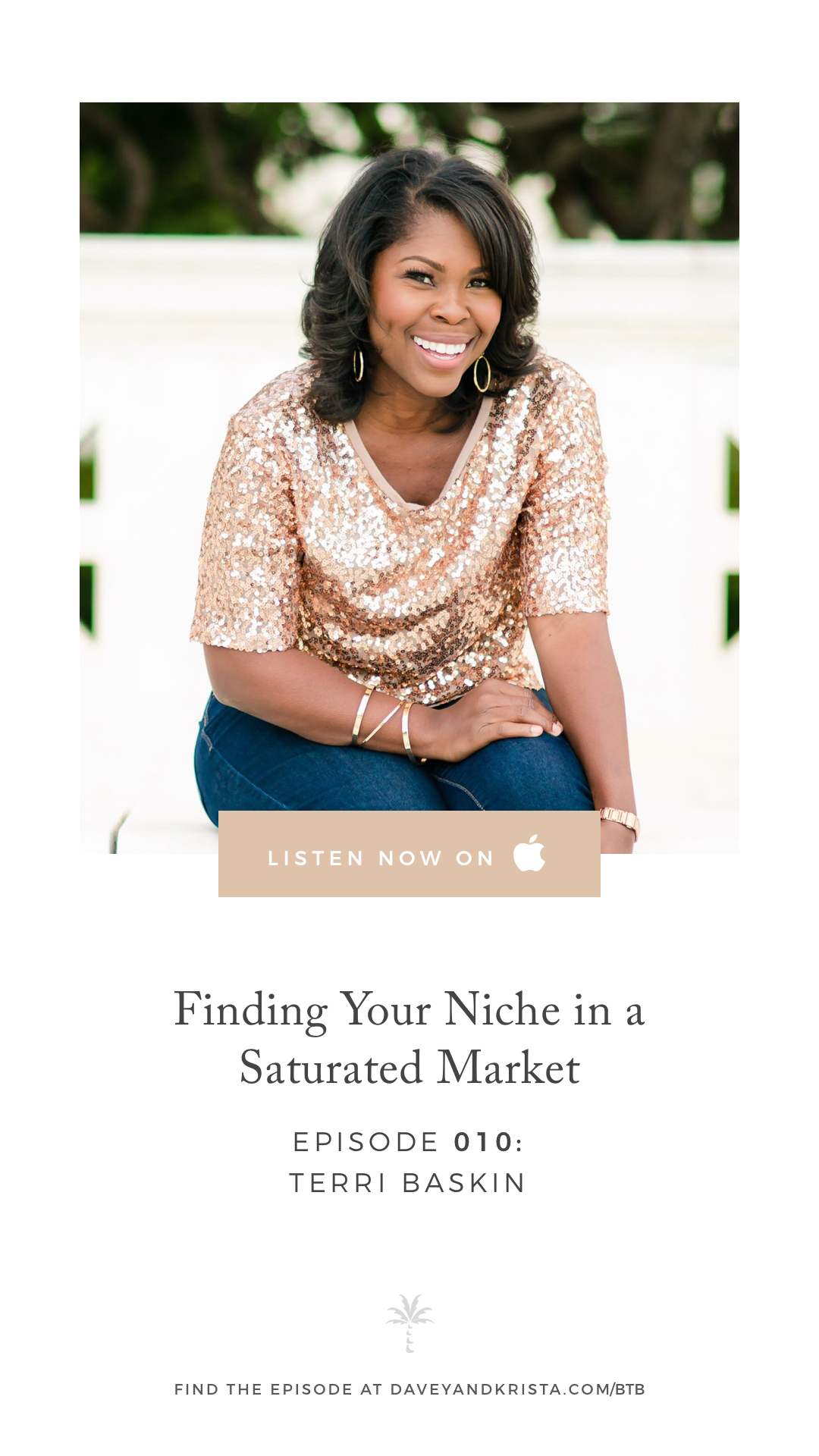 Wedding Photographer Terri Baskin chats about Finding Your Niche in a Saturated Market on the Brands that Book Podcast | Davey & Krista