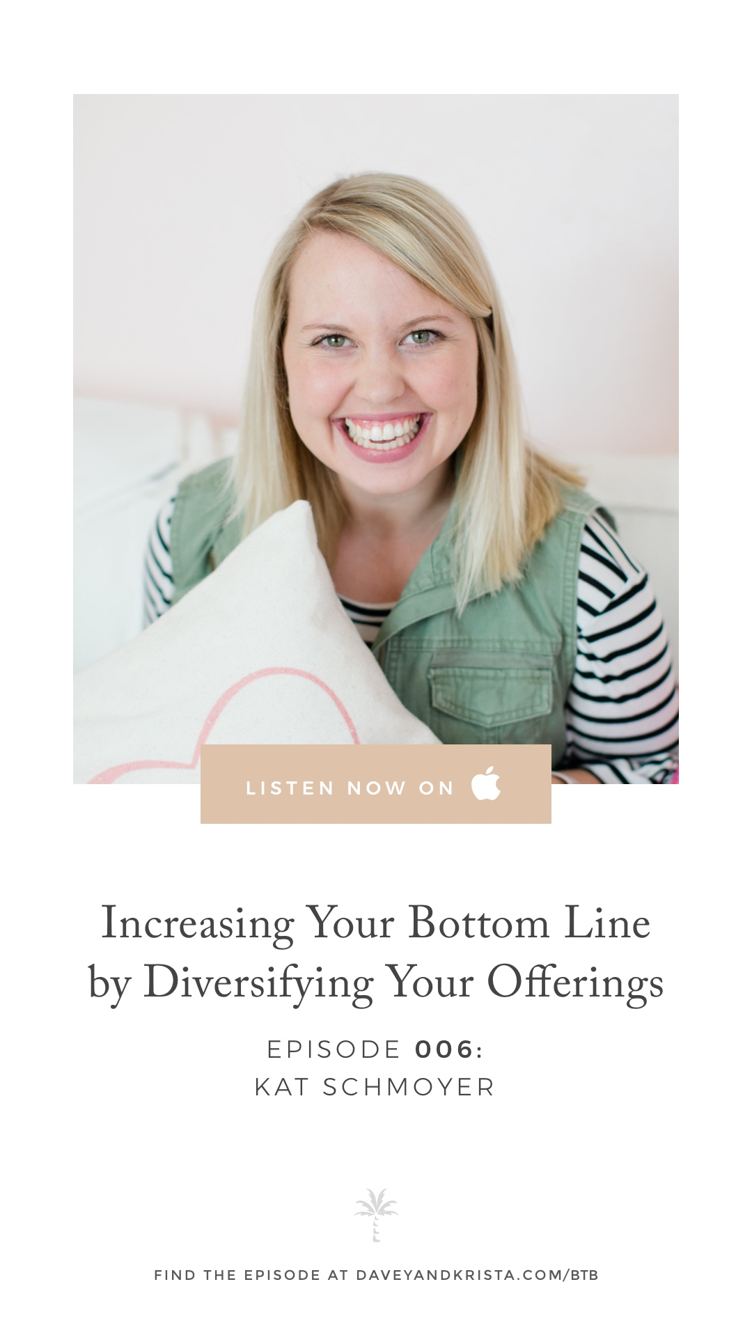 Tips for increasing your bottom line by diversifying your offerings with Kat Schmoyer | Brands that Book Podcast with Davey Jones