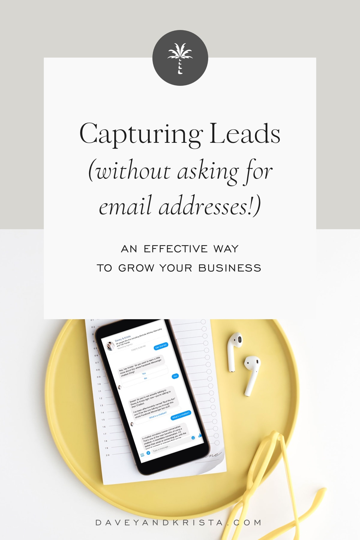 Capturing Leads without Asking for Email Addresses | Davey & Krista