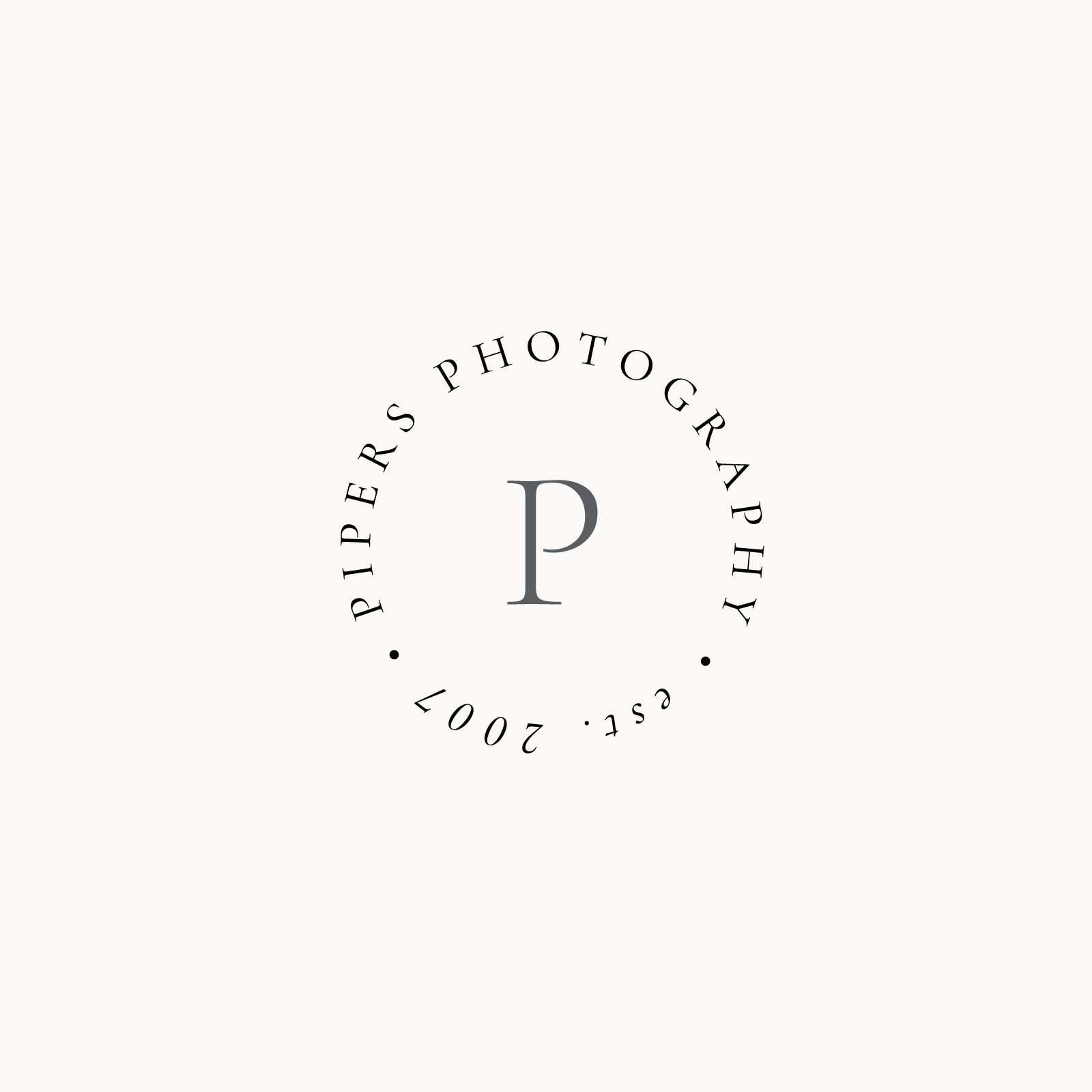 Coastal inspired classic logo for wedding photographer Krista Piper by Davey & Krista