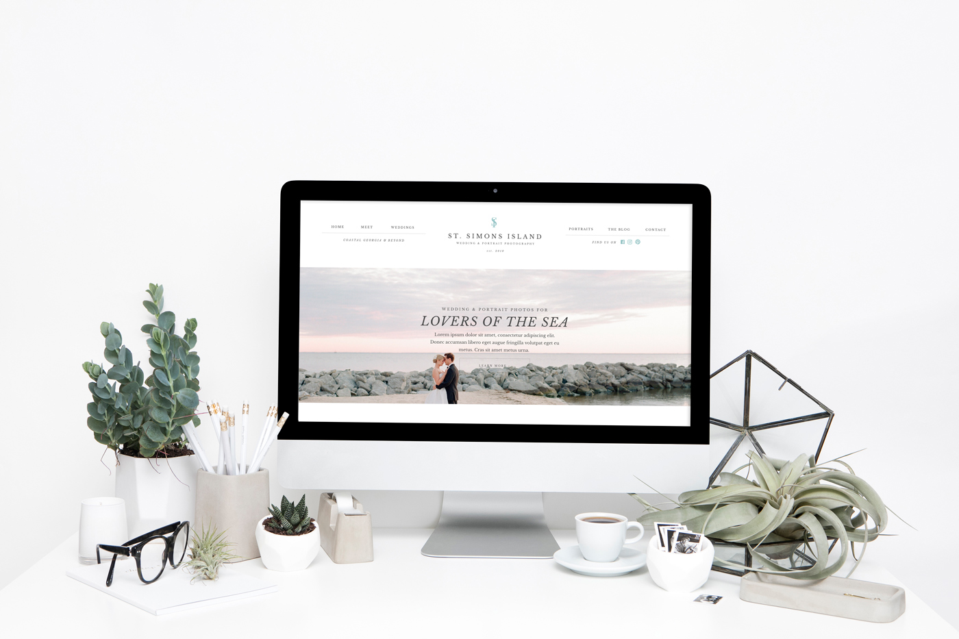 Elegant, classic drag and drop WordPress & Showit website templates for photographers and creative business owners. | Davey & Krista