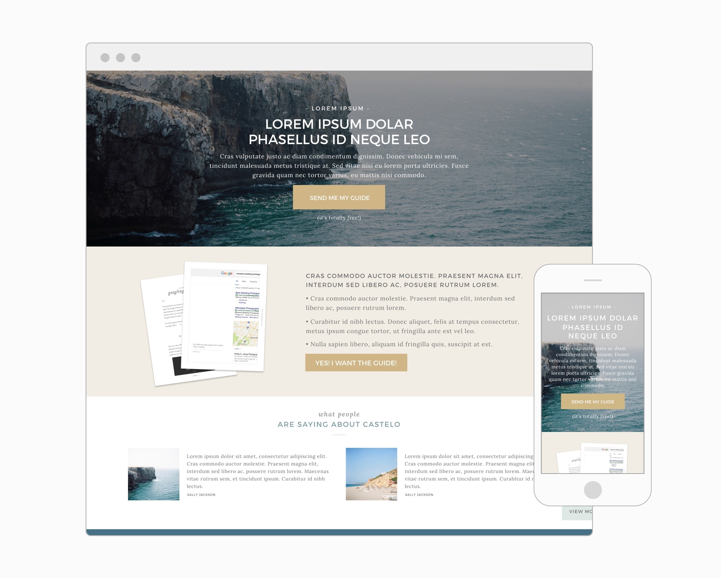 Landing Page (WordPress)