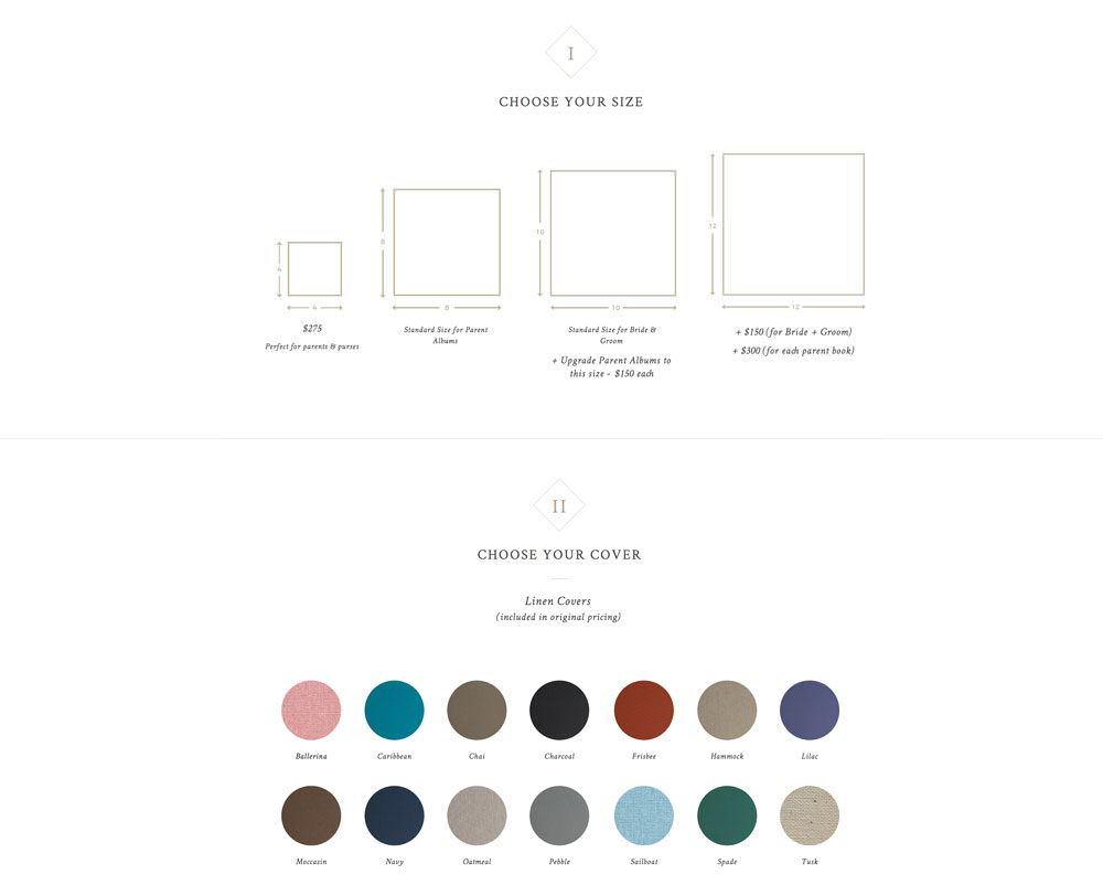Sell more wedding albums using an easy-to-update menu website | Davey & Krista