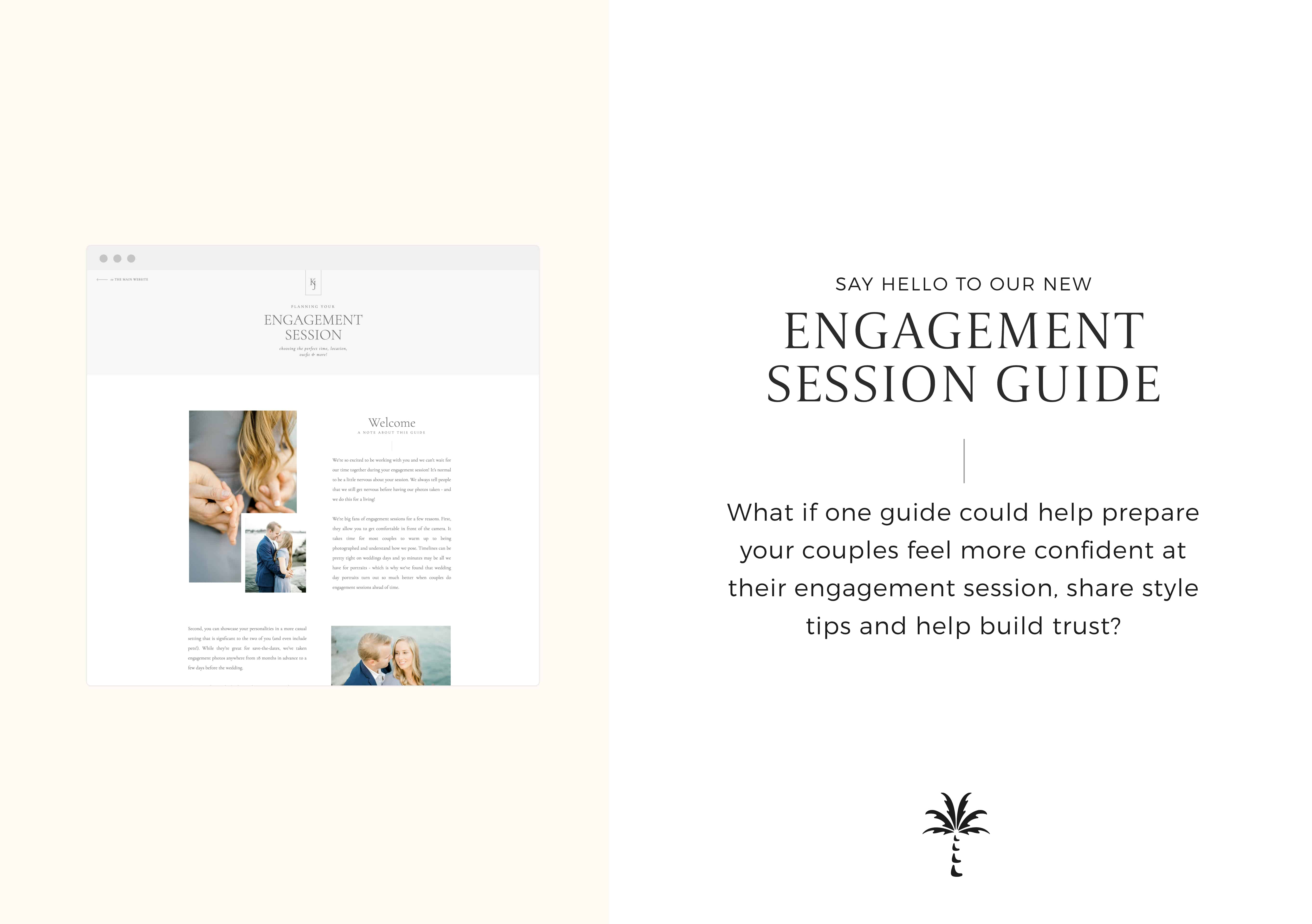 Engagement Session Style Guide Template - What if one guide could help your couples feel more confident at their engagement session, share style tips and help build trust? | Via Davey & Krista