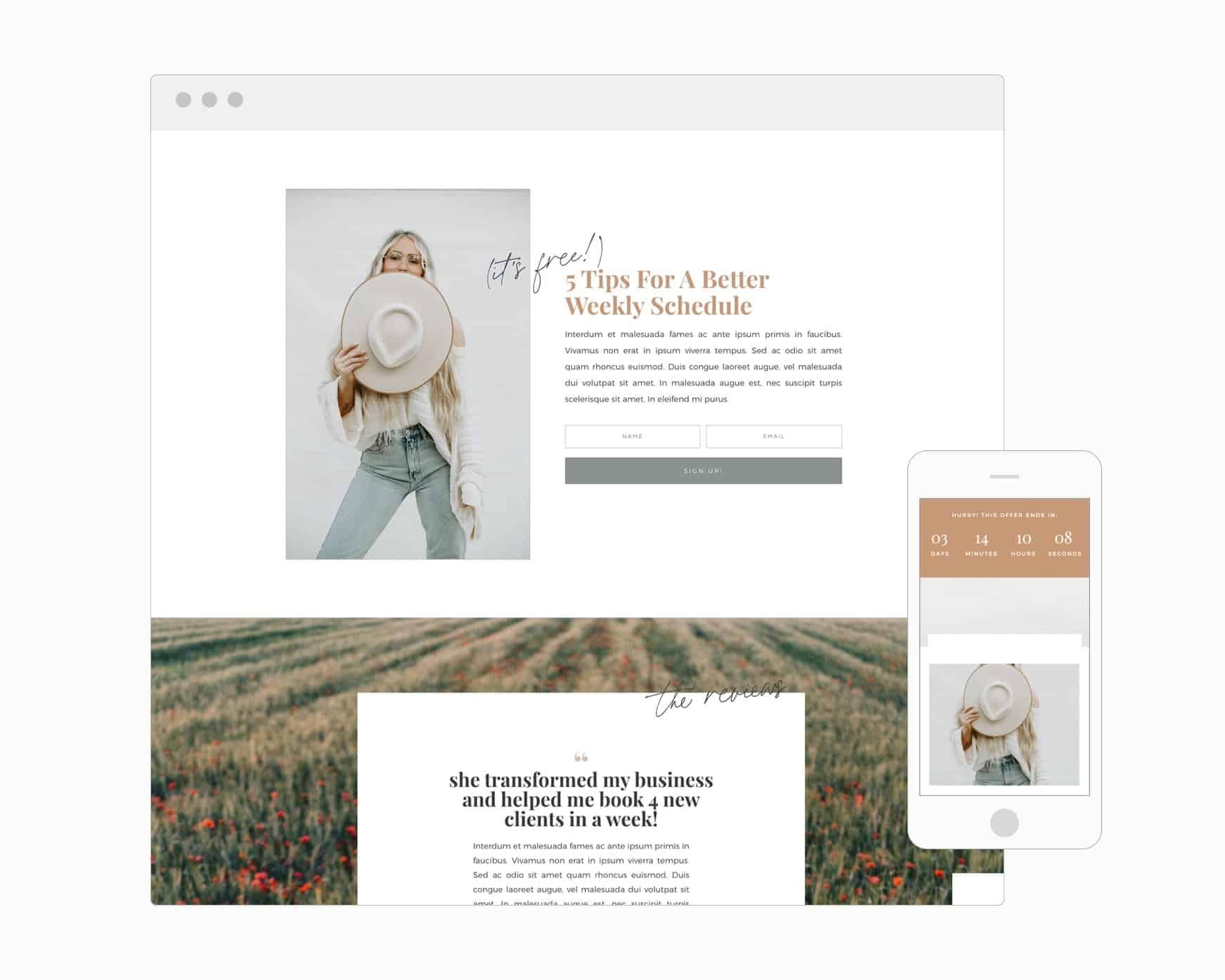 Landing Page (WordPress)