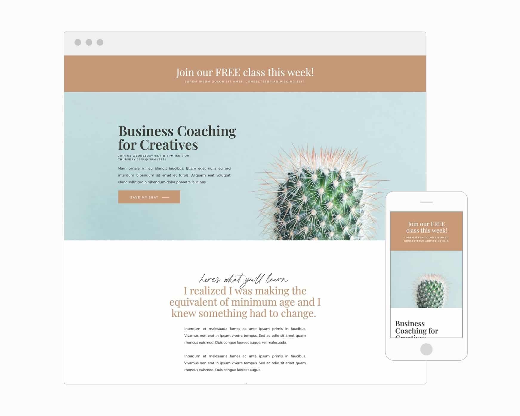 Webinar Registration Page (WordPress)