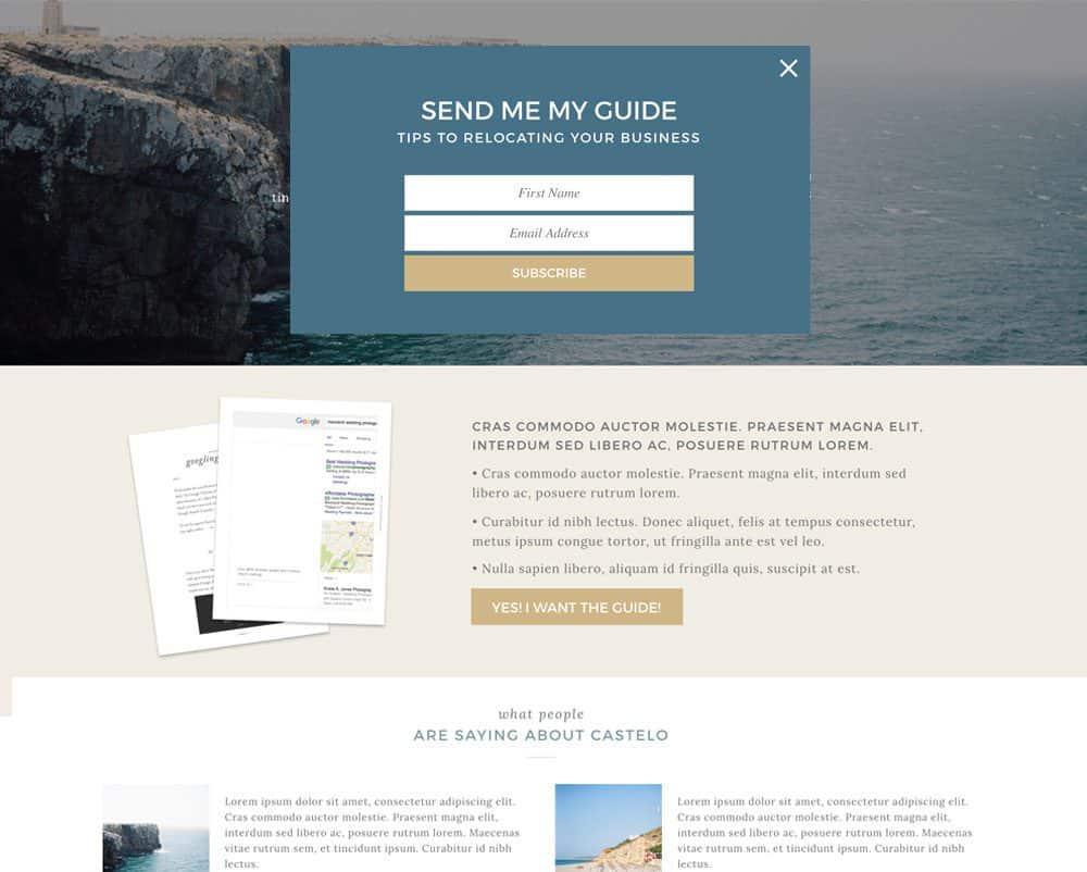 Showit lead magnet + landing page template | Davey & Krista