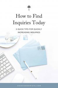 How to Find Inquiries Today | Davey & Krista