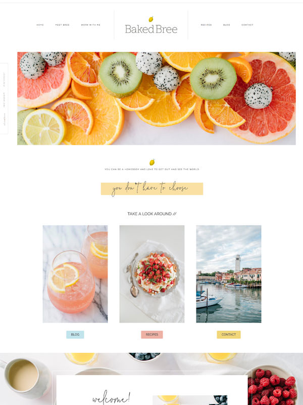 Classic drag and drop website template for photographers and creatives by Davey & Krista