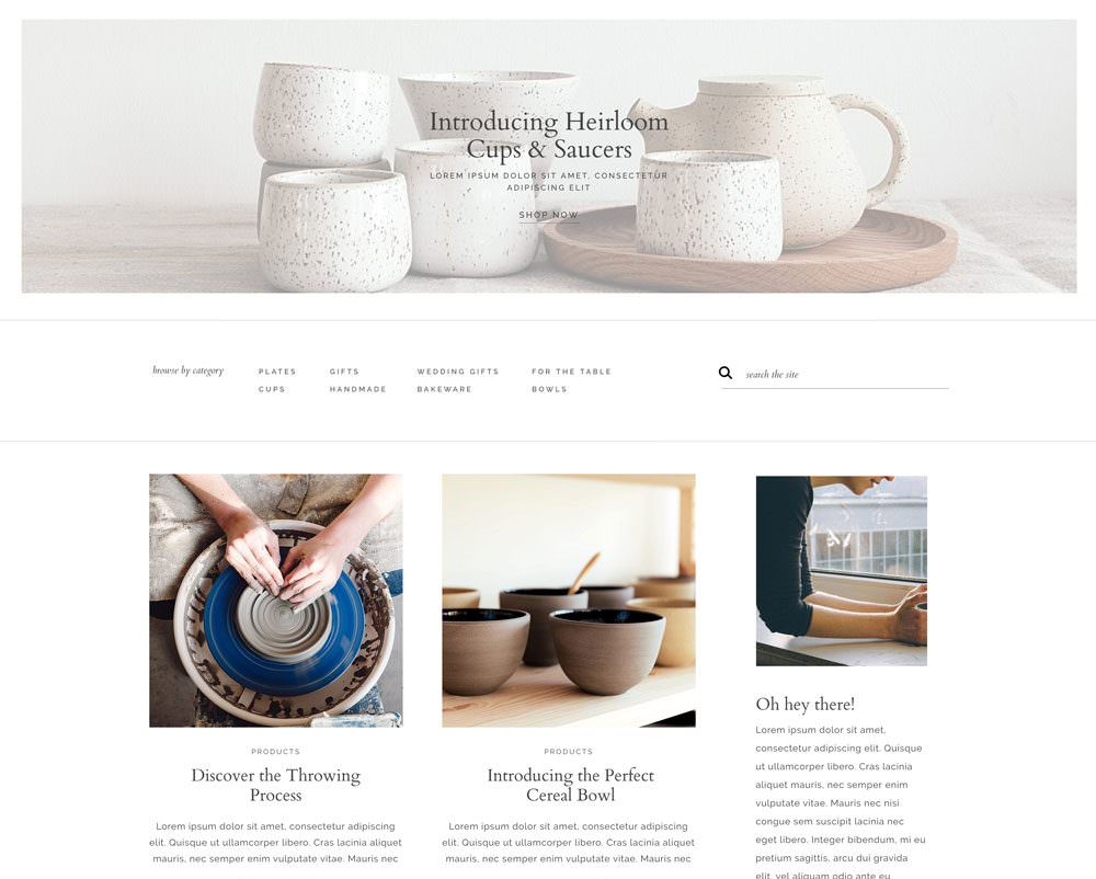 Easy to update, elegant shop design for creative business owners. Sell products, prints and more with WooCommerce on WordPress | Davey & Krista