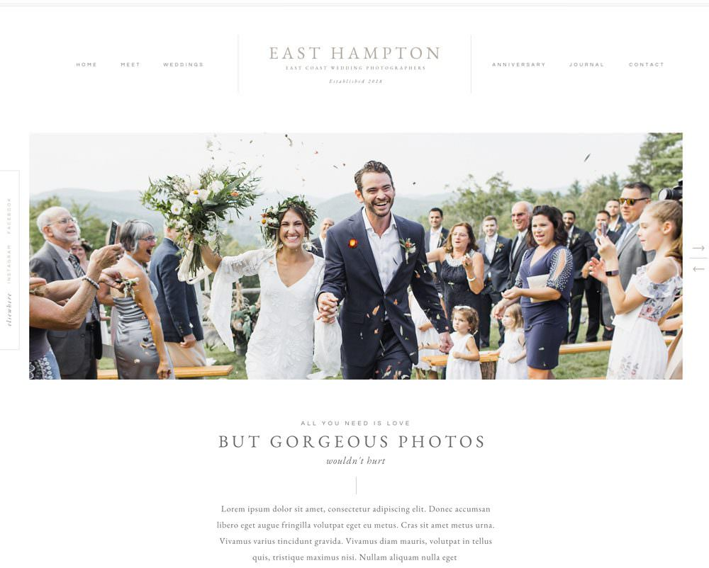 East Hampton Showit website template for photographers & creatives by Davey & Krista