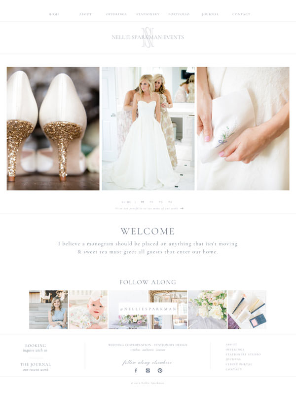 Easy to update website template for photographers | Davey & Krista
