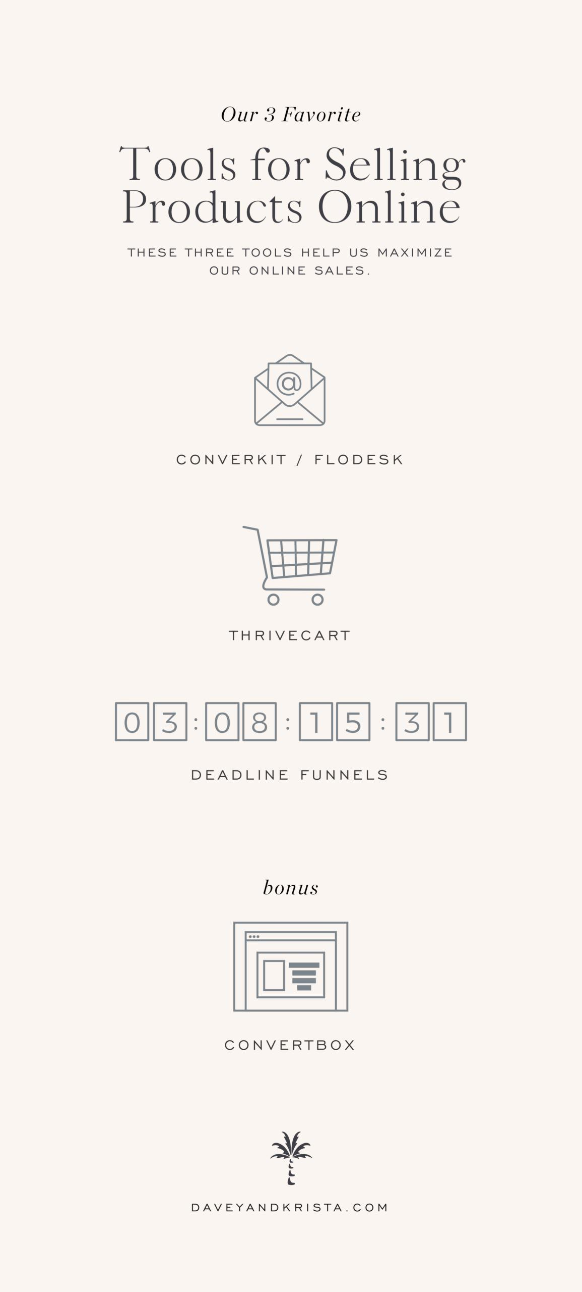 Our Favorite E-Commerce Tools: ConvertKit, Flodesk, Deadline Funnels & ConvertBox