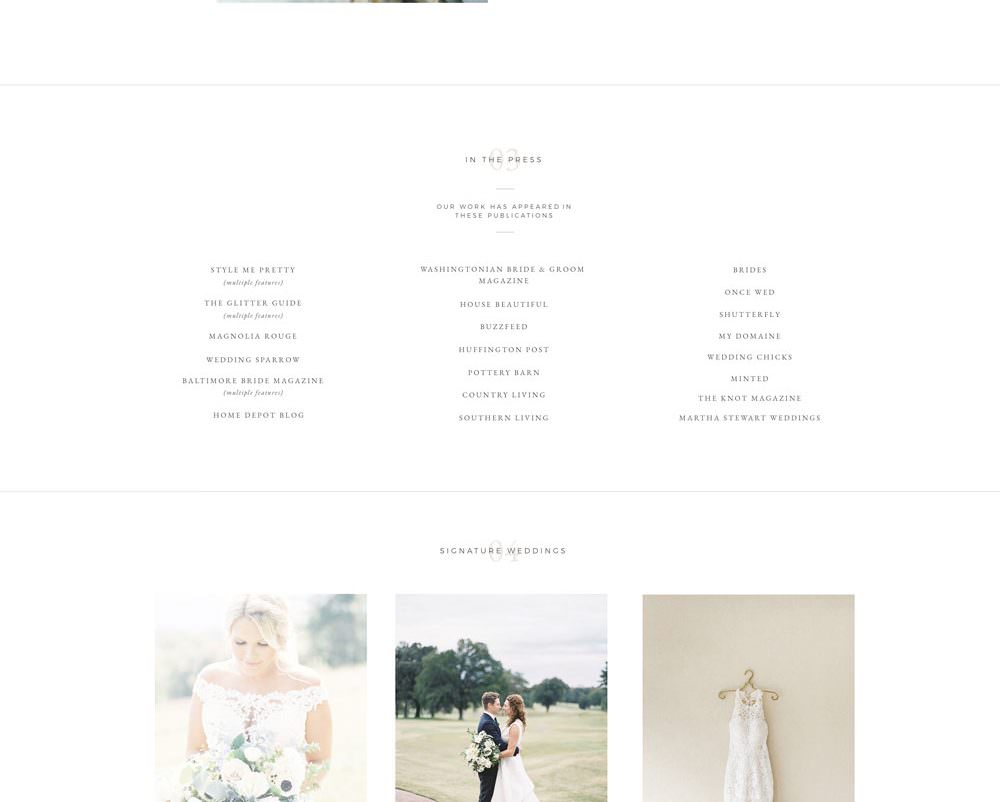 Luxury website template design for photographers, planners & wedding professionals | Davey & Krista