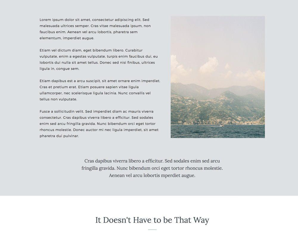 Sales page landing design for Showit | Davey & Krista