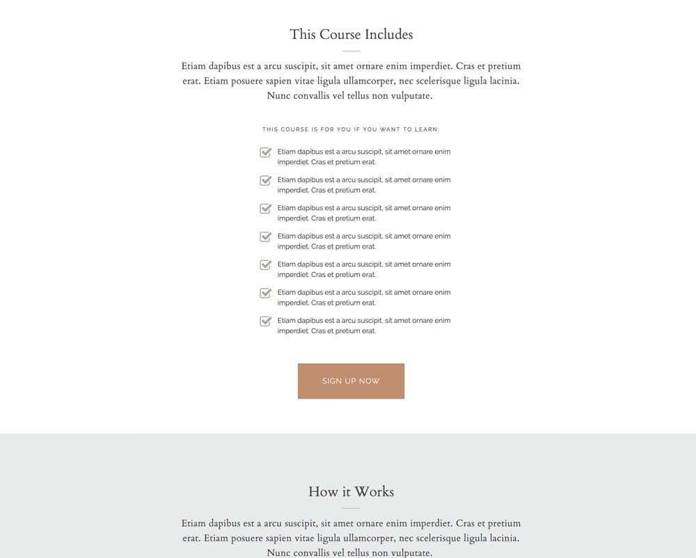 Course or product sales page for WordPress | Davey & Krista
