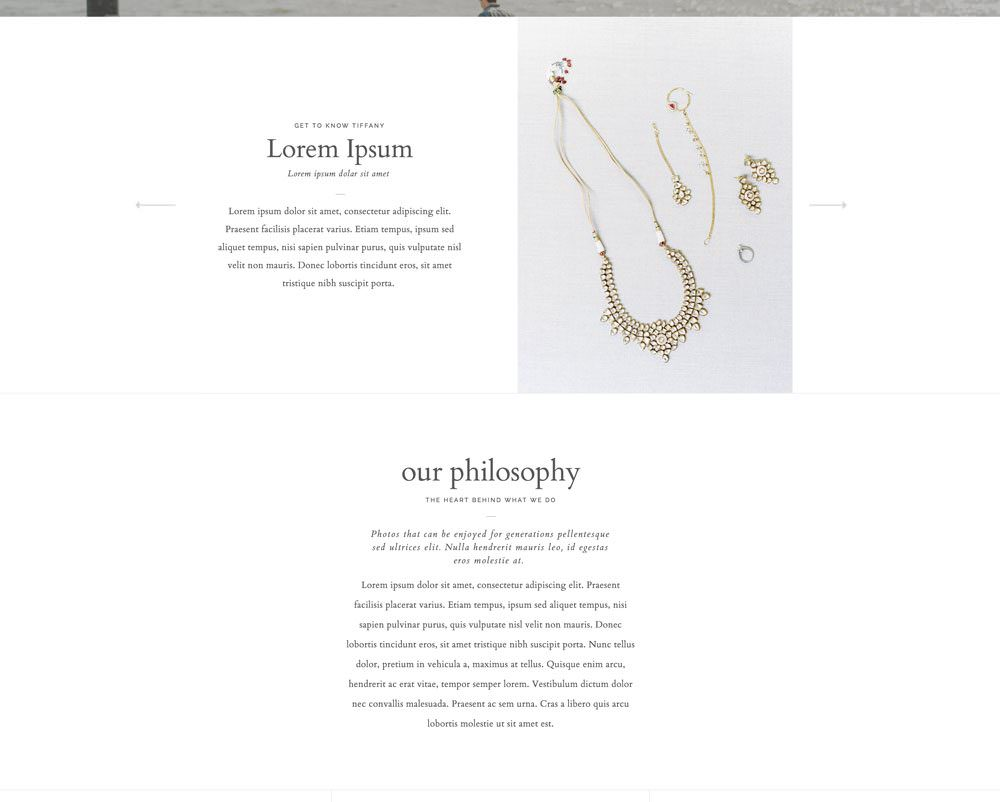Website template designs for wedding planners, floral designers, photographers and creatives | Davey & Krista