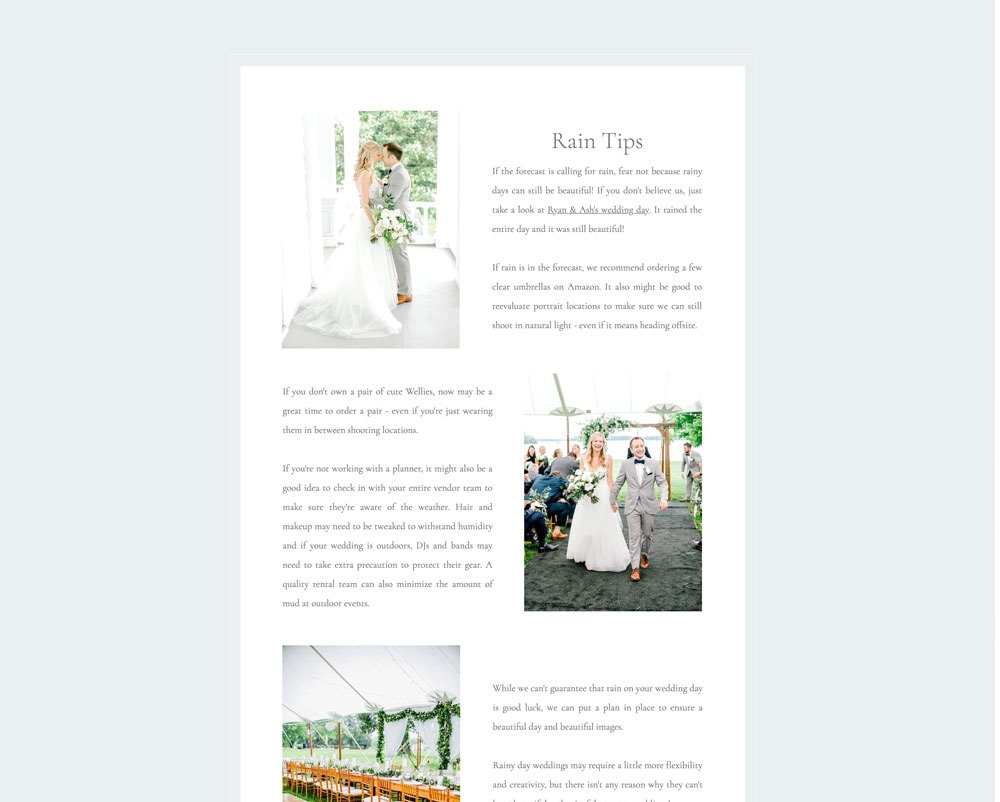 Wedding Guide (Showit)