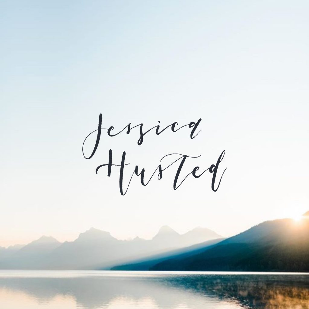 Rustic logo design for photographer Jessica Husted by Davey & Krista