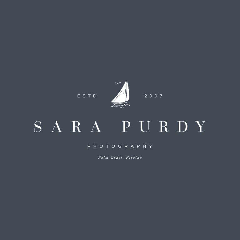 Coastal brand design for photographer Sara Purdy by Davey & Krista