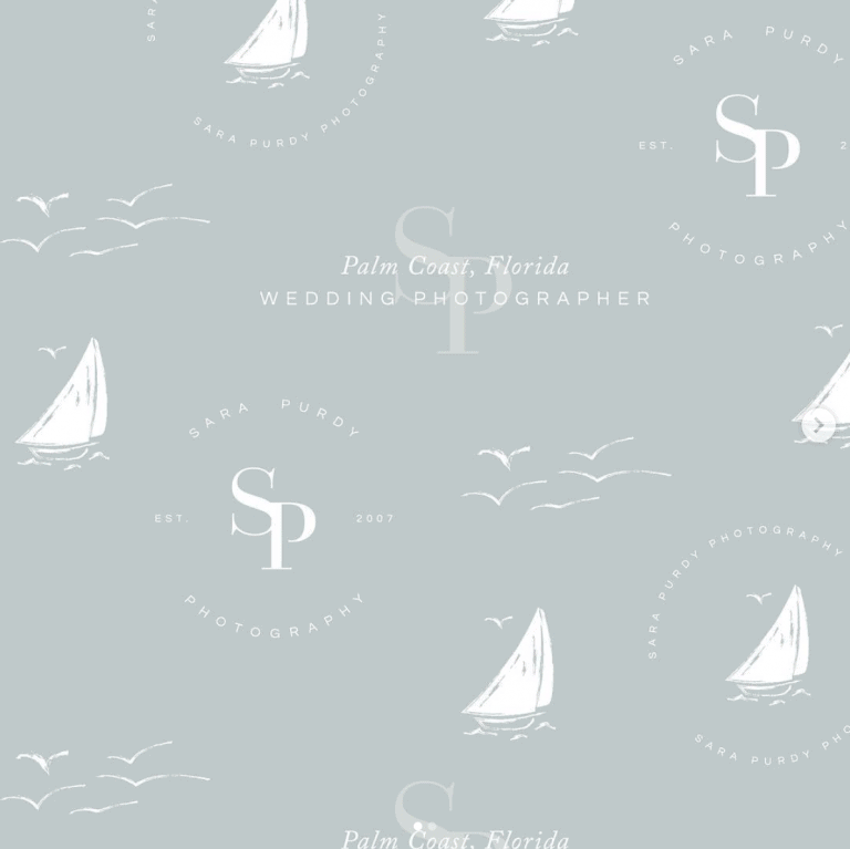Costal inspired logo and brand for photographer Sara Purdy by Davey & Krista
