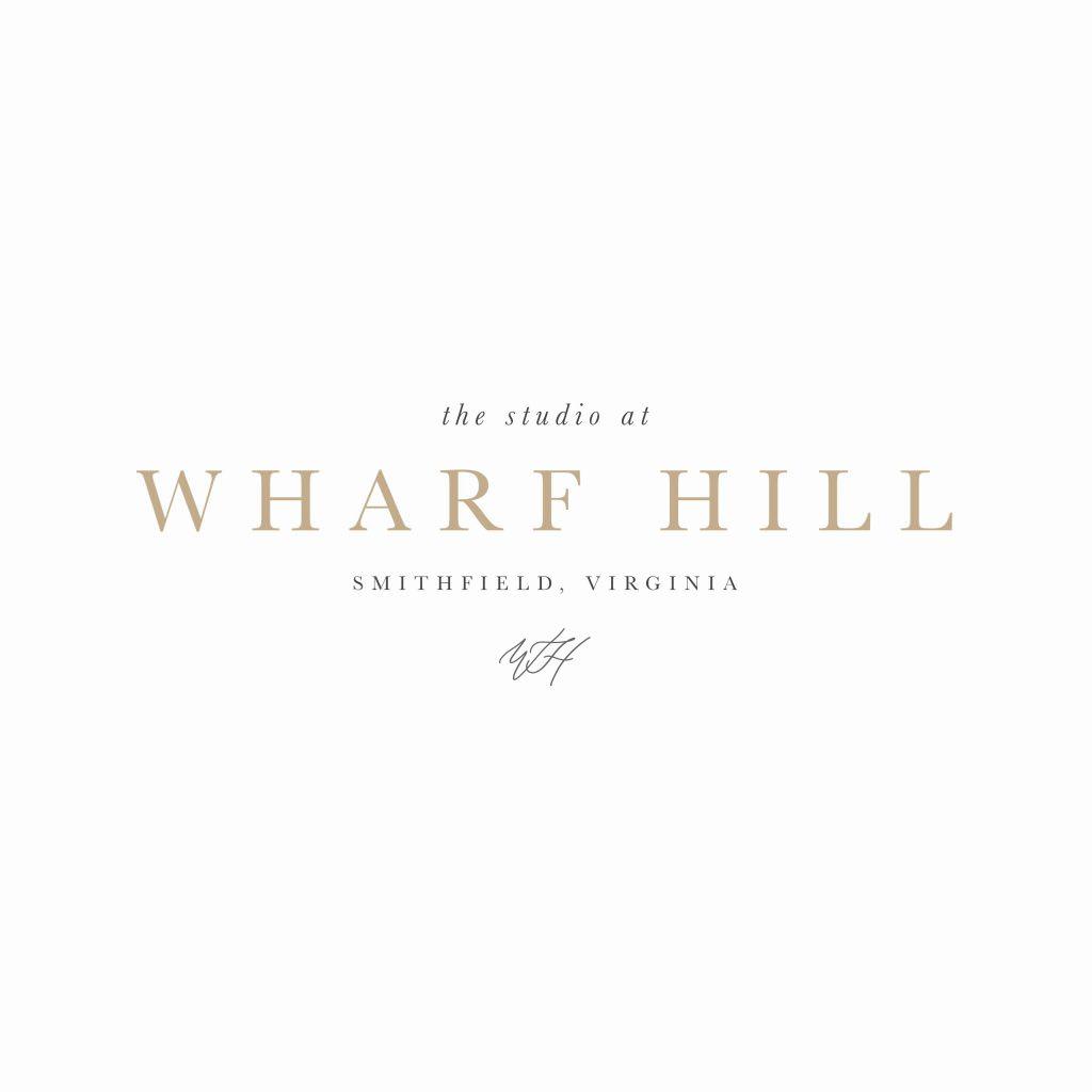 Coastal brand design for photographer studio Wharf Hill by Davey & Krista