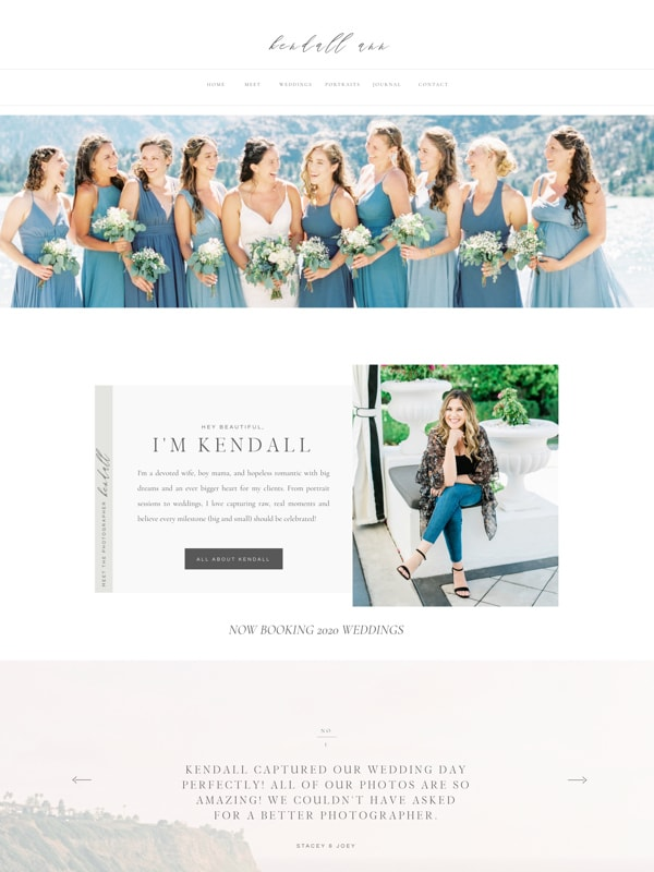 Elegant Showit Website Designs for Elementor | Wedding Photographers | Davey & Krista