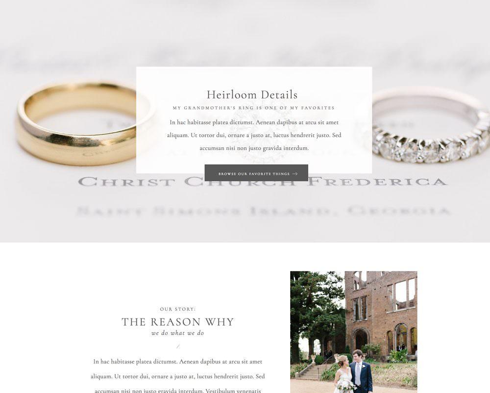 Classic, elegant and minimal Elementor for WordPress website themes | Davey & Krista