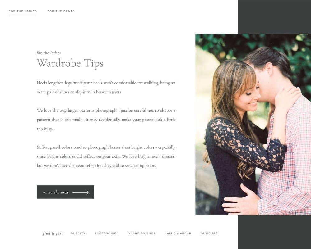 Engagement Guide (Showit)