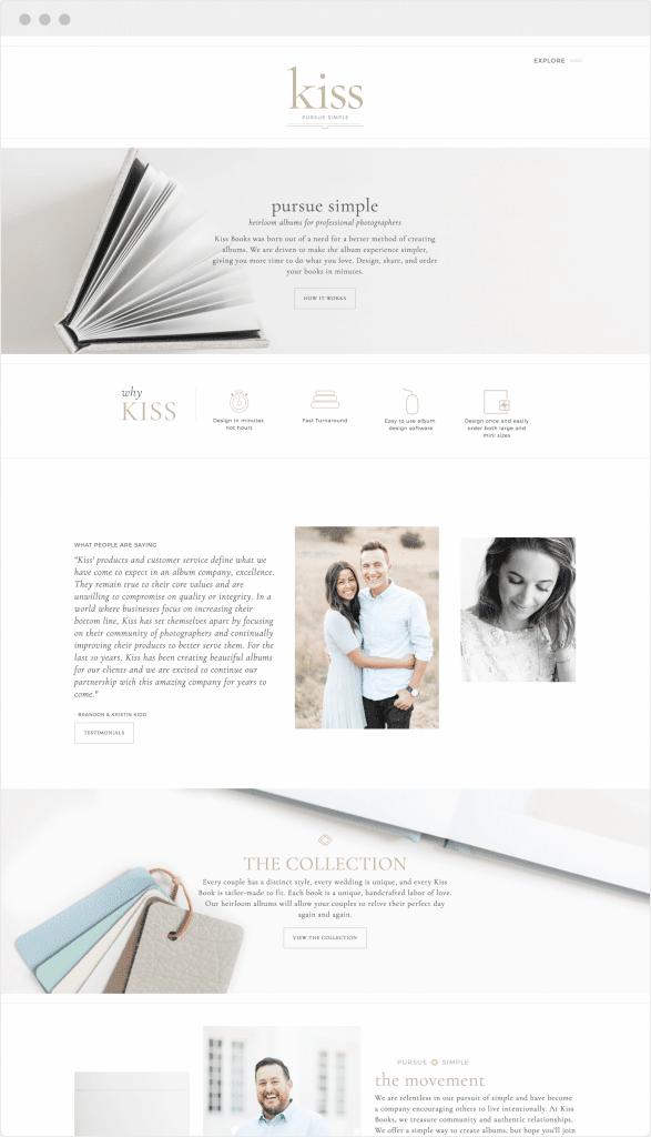 Custom Website Design for Kiss Books by Davey & Krista
