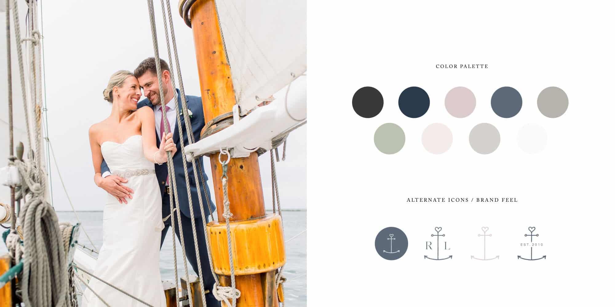 Classic logo, brand and website design for wedding photographer Rebecca Love