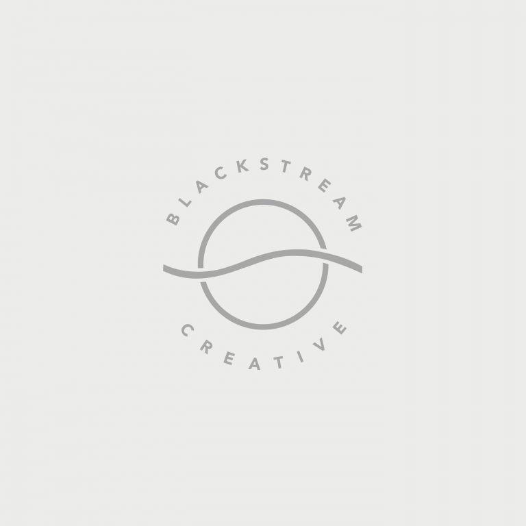 Blackstream Creative custom photography logo by Davey & Krista