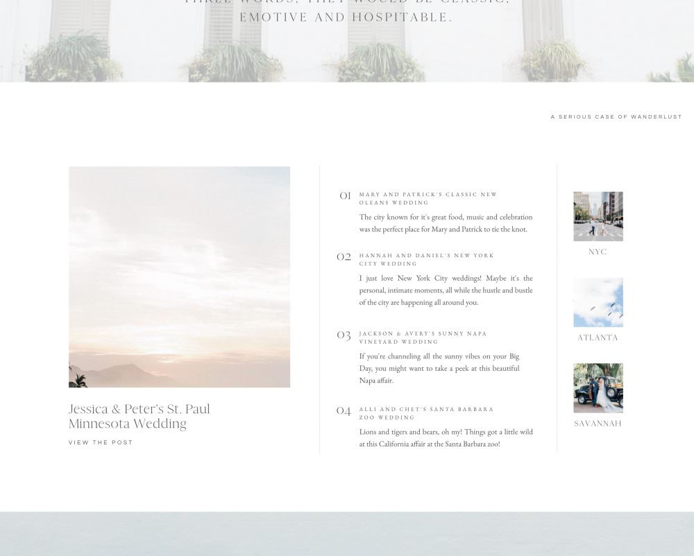 Isle of Palms - Classic white Showit website template for wedding and portrait photographers | Davey & Krista