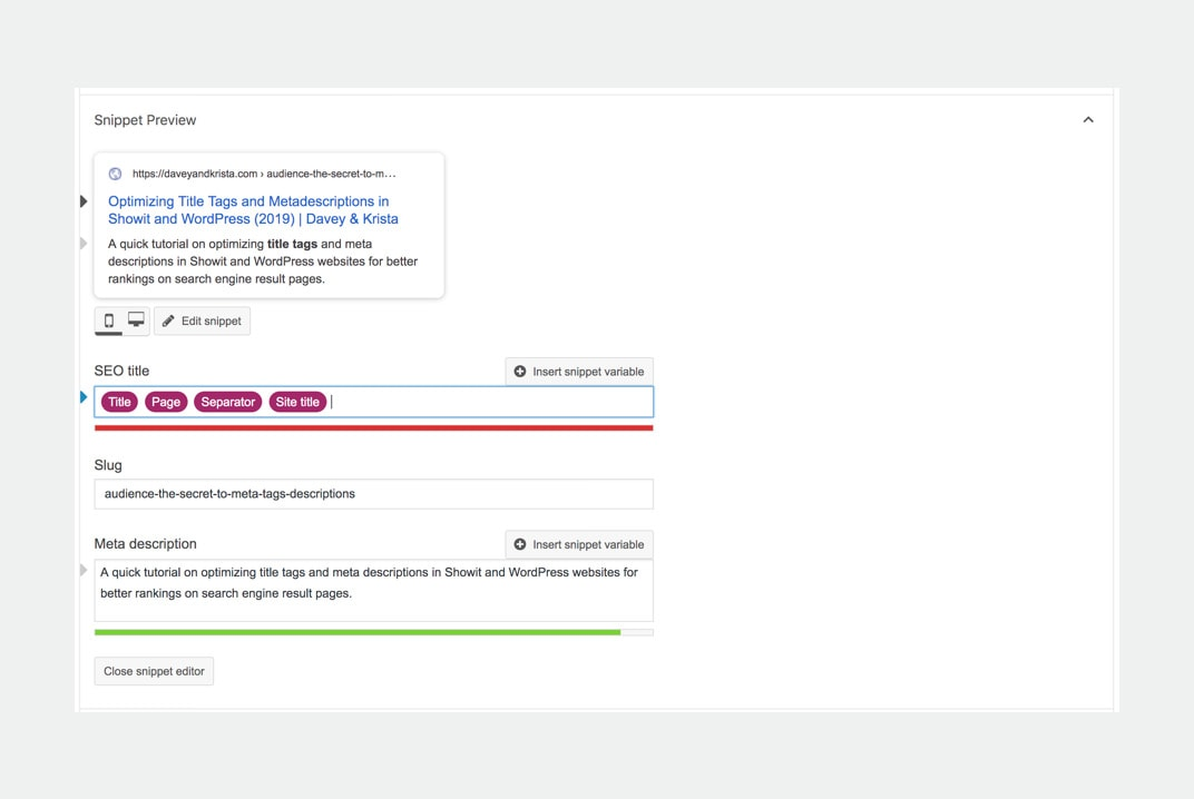 Optimizing Title tags and meta descriptions for Google search results | Via Davey & Krista