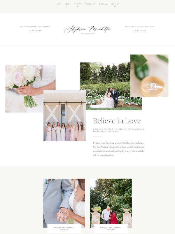 Elegant WordPress Website Designs for Elementor | Wedding Photographers | Davey & Krista