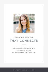 Creating Content that Connect - Elisabeth Young | Brands that Book | via Davey & Krista