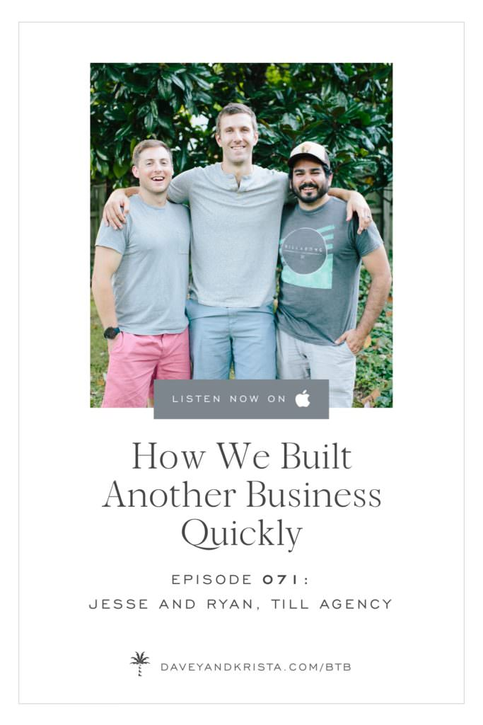 How We Built Another Business Quickly | Brands that Book podcast | Davey & Krista