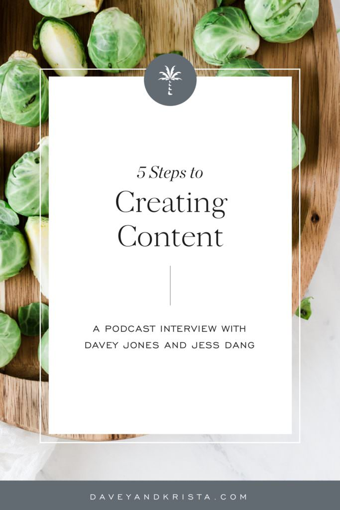 5 Steps to Creating Content | Brands that Book podcast | Davey & Krista