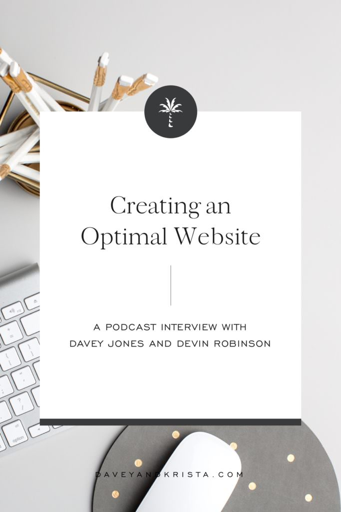Creating an Optimal Website | Brands that Book podcast | Davey & Krista