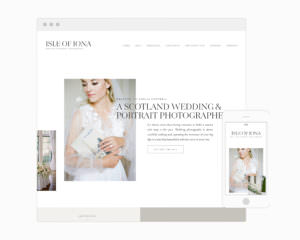 Iona - An Elegant Website template for Showit + WordPress for photographers & creative business owners | Davey & Krista